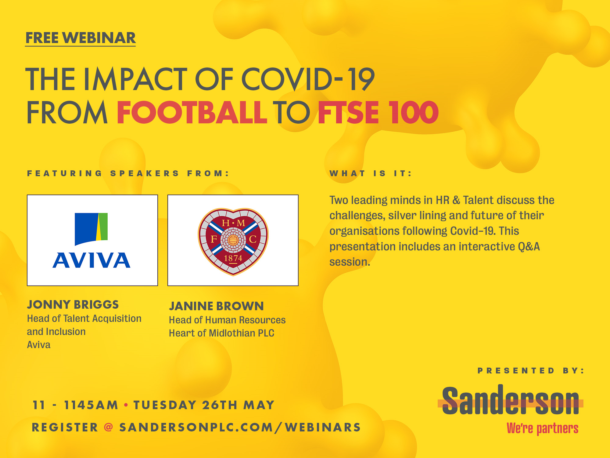 From FTSE to Football Webinar: Talent and HR leaders give us two very different perspectives of the COVID-19 crisis