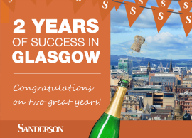 Press Release: Recruitment company Sanderson celebrates its second year in Glasgow