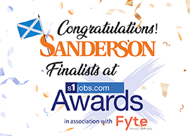 Sanderson is a finalist in the s1 Recruitment Awards!
