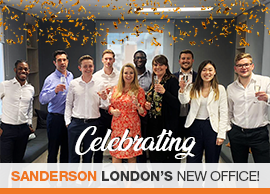 Sanderson London celebrate their expansion with a brand new office!