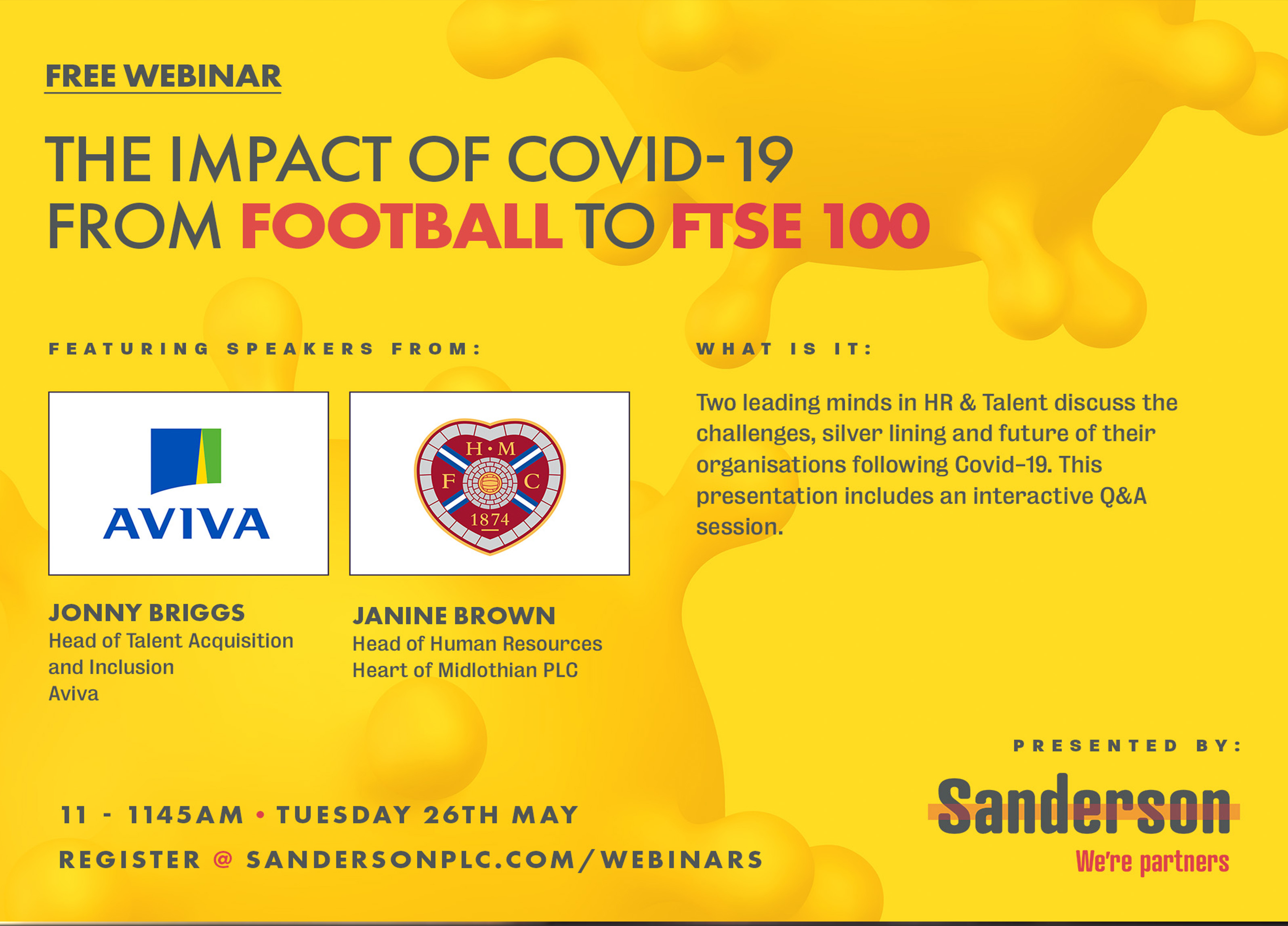 The Impact of Covid-19 from Football to FTSE 100: Webinar